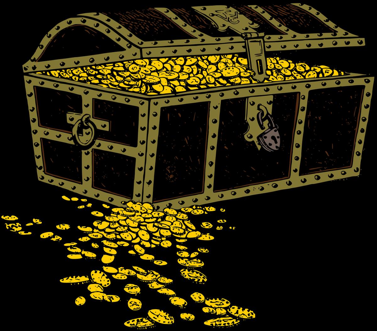 Eine Kiste mit Gold